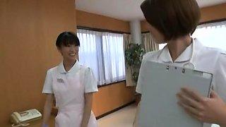 Horny Japanese model Yuzu Yamanashi, Imai Natsumi, Miku Tanaka in Incredible Nurse JAV scene