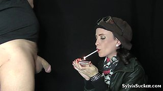 SYLVIA CHRYSTALL YOUNG SMOKING SEXY SLUT EVE 120s BLOWJOB