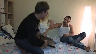 Cutie gets sperm on recent pussy after sex with stranger