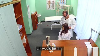 Real doctor fucks her naive colleague doggystyle