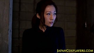 Busty japanese thief pussyfuck punishment