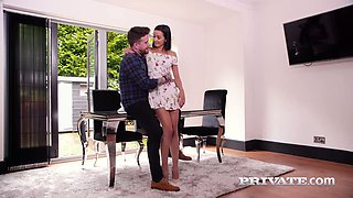 Young beautiful brunette Francys Belle is making love with her boyfriend