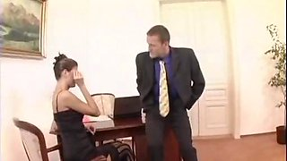 Lucie Theodorova fucks her boss in Sexy  Stockings