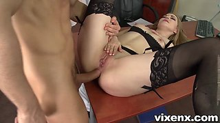 Bad secretary punished with spanks and anal sex