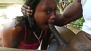 Sexy Ebony Lyric takes anal