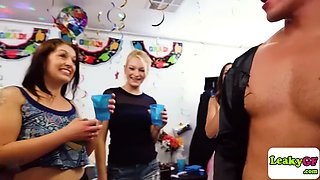 horny college babes going for a party fuck after graduation