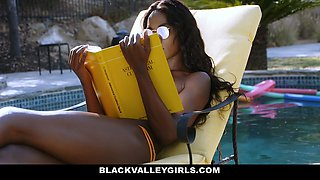 BlackValleyGirls- Sexy Black Babe Seduced By Pool Guy
