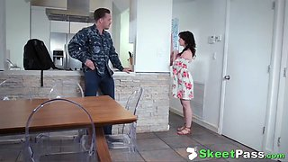 Military stepbro returns from tour &amp fucks his super slut sister