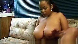Gigantic boobs ebony slut riding monster black boner