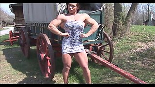 Isabel Terrell - muscles in gown