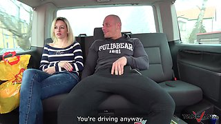 Bald guy talked blonde Jenny into banging with him in the car