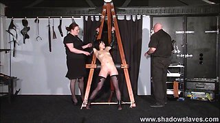 Tied Elise Graves pussy punished and hardcore bdsm of e