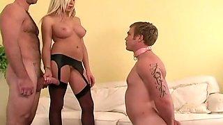 Amazing homemade Blonde, Threesomes xxx clip