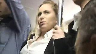 Milf Touched To Multiple Orgasm On Bus - 2 On HDMilfCam,com