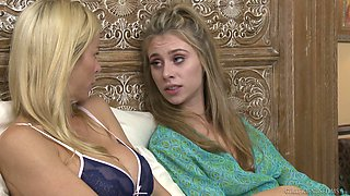 Splendid lesbian action with Anya Olsen and her sexy sweetheart