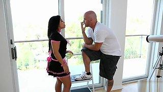 French Maid Selena Rios Banged