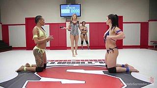 erotic lesbian tag team wrestling