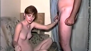 Vintage smoking blowjob