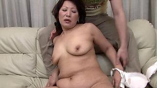 Asian BBW granny Kaoru Ayatsuki fucked hard