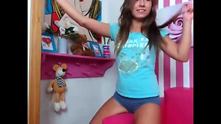 hot sexy young teen doll striptease