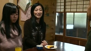 Japanese MILFs are fucked by a fat ugly old fart