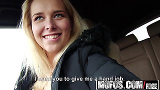 Mofos - Stranded Teens - Flirty Blonde Fucked in Car starrin