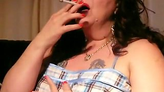 Horny homemade Smoking, BBW adult movie