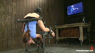 Elegant Allie Haze Getting Fucked by Machine in Device Bondage Clip