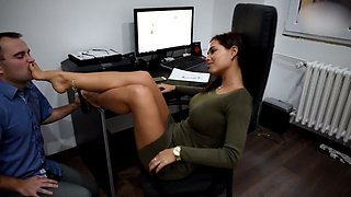 office foot domination