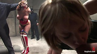 Operation Americana A HogTied Super Hero Feature.America's Greatest Hero, Cumming Like A Whore - HogTied
