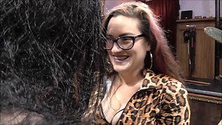 FemDom Mistress Dahlia Snow Tickles Crossdresser Threesome