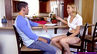 Blondie Chloe Cherry gets intimate with her spoiled step brother