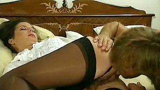 Delicious and young redhead babe receives cunnilingus