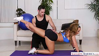 handsome fitness coach fucks richelle ryan and cums inside her